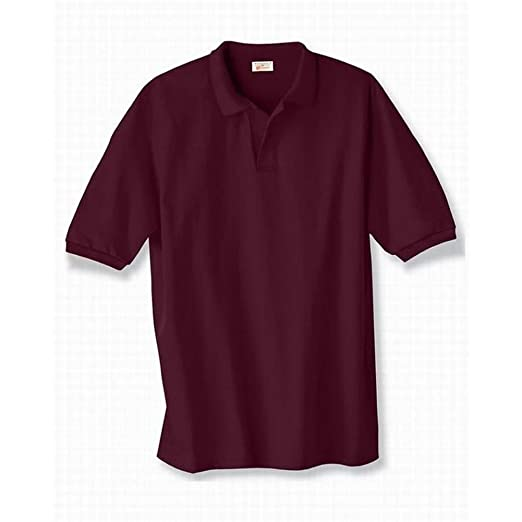 6141630cafc Stedman by Hanes 5.5 oz 50 50 Jersey Knit Polo in Maroon - X-Large ...
