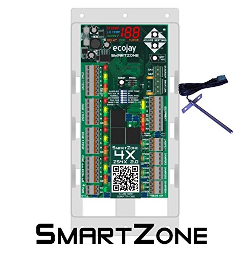 SmartZone-4X Control - 4 zone controller KIT w/Temp sensor - Universal Replacement for honeywell zoning panel truezone hz432 & more