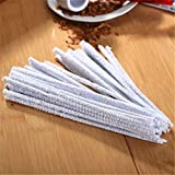 tapered pipe cleaners - 1 Bundles Hard Pipe Cleaners Cotton Tapered Bendable Reusable Absorbent Bristle 44 Count