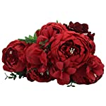 Duovlo-Springs-Flowers-Artificial-Silk-Peony-Bouquets-Wedding-Home-DecorationPack-of-1-Spring-Red