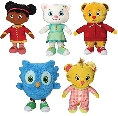[Daniel Tiger Set of Five Mini Plush Figures] (Katarina Kitty Cat Costumes)