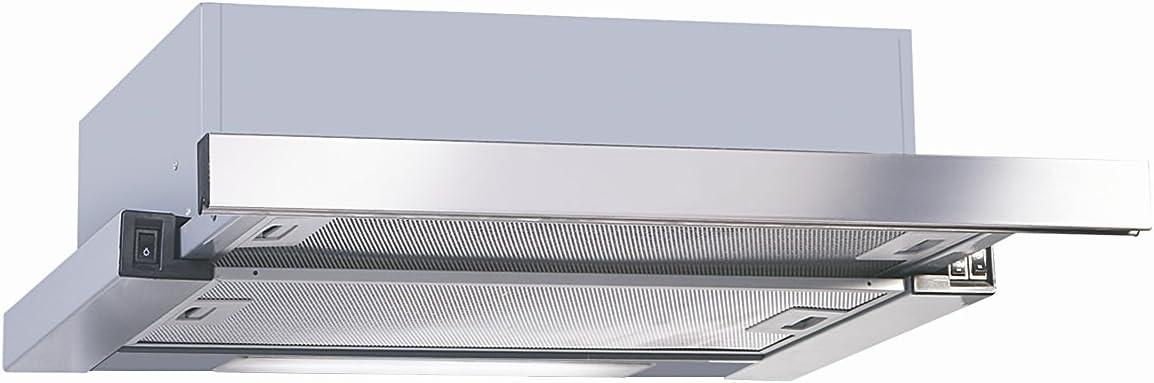 UNIVERSALBLUE - Campana Extractora Extraible 60cm - Color Acero INOX - Eficiencia Energética C