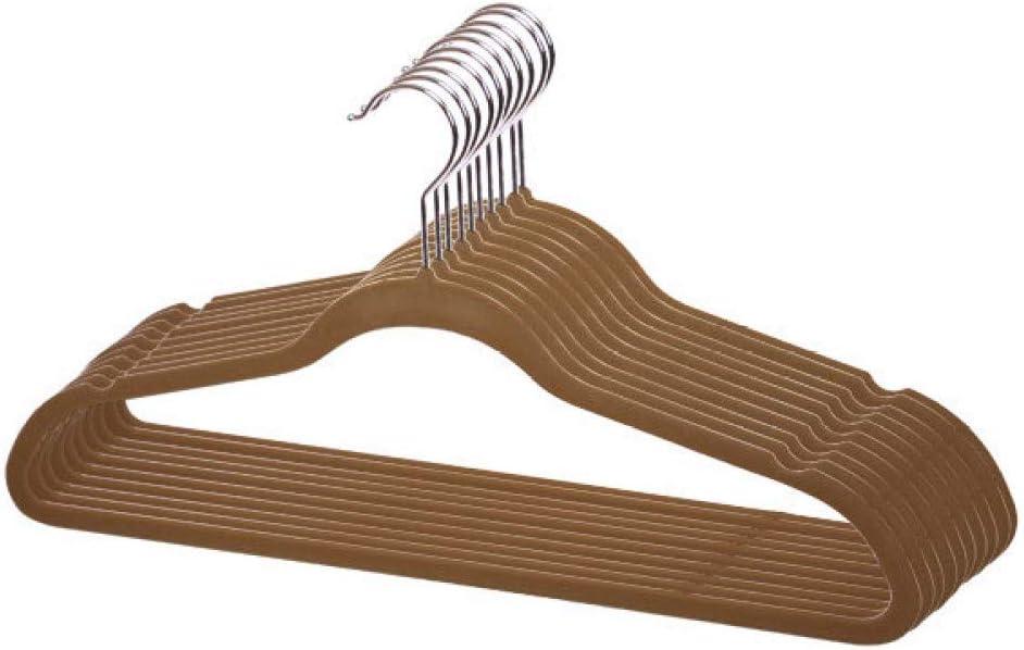 Home Basics, Brown 10 Piece Velvet Hanger