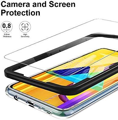 Luibor Para Samsung Galaxy M30S/M21 Protector Pantalla (2 Piezas)+ 1 * Estuche + 1 * Herramienta de instalación Cristal Templado para Samsung M30S/M21: Amazon.es: Electrónica