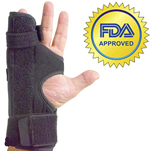 Boxer Splint (Right)- Medium Metacarpal Splint for Boxers Fracture, 4th or 5th Finger Break, All Sizes Available, Left or Right, by American Heritage Industries