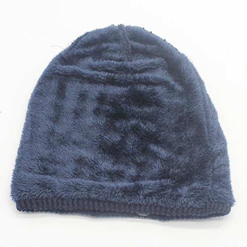 Bodvera Winter Knit Wool Warm Hat Thick Soft Stretch Slouchy Beanie Skully Cap
