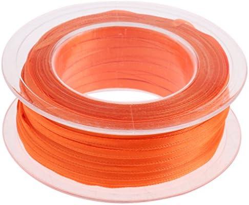 ポリエステル ダブル リボン 花束バインディング 結婚式パーティー デコレーション 全22色 - オレンジ