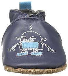 Robeez Boys\' Robotics Loafer, Navy, 12-18 Months M US Infant