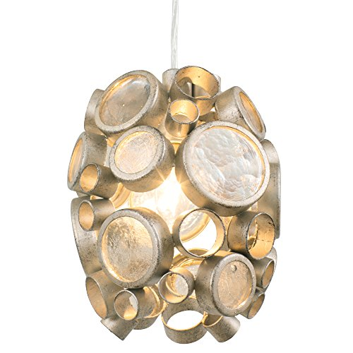 Fascination 1-Light Mini Pendant - Zen Gold Finish with Recycled Champagne Glass Shade