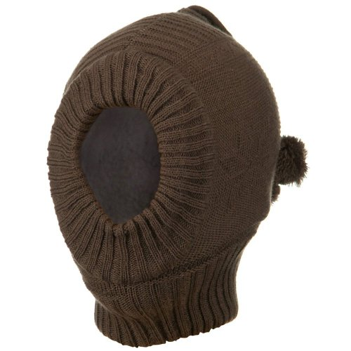 (Solid Children Ski Mask - Brown)