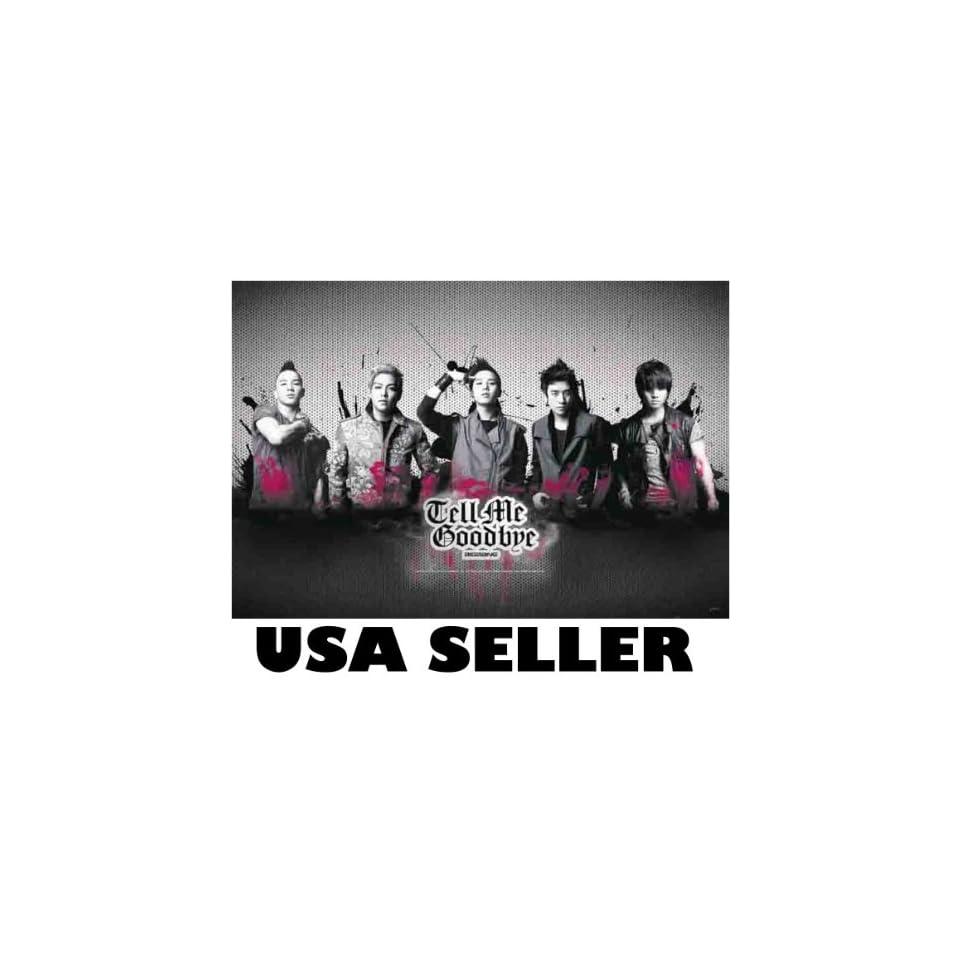 Bigbang Tell Me Goodbye horiz POSTER 34 x 23.5 Big Bang Korean boy band Top G Dragon (poster sent FROM USA in PVC pipe)