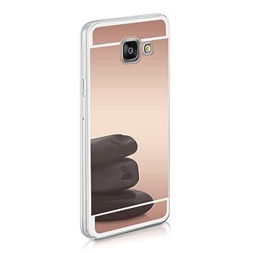 kwmobile Funda para Samsung Galaxy A3 (2016) - Carcasa Protectora [Trasera] de [TPU] para móvil en [Oro Rosa con Efecto Espejo]