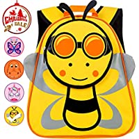 "Toddler Backpack, 12"" Bee Preschool Bag for Girls and Boys"