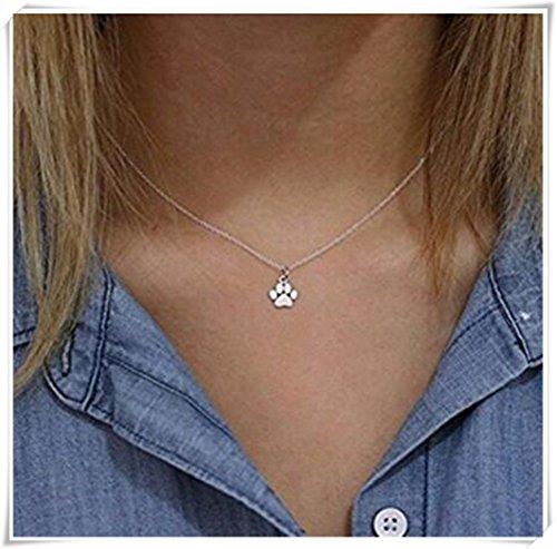 Paw Print Jewelry - Silver Paw Print Necklace