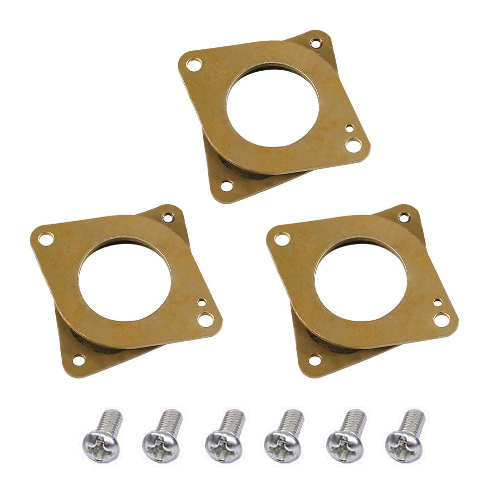 Dorhea 17 Stepper Motor Steel and Rubber Vibration Dampers with M3 Screw for Ender 3 Creality CR-10 CR-10S 3D Printer CNC Machines All Nema 17 Motors (Pack of 3)