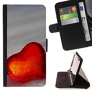 Momo Phone Case / Flip Funda de Cuero Case Cover - El amor del Corazón de Invierno - LG G4 Stylus H540