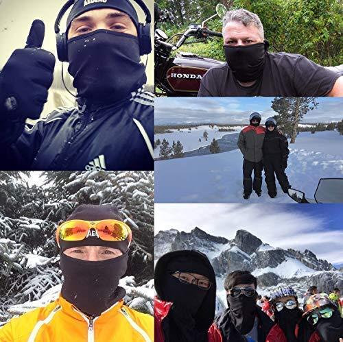 Balaclava Aegend Face Mask Neck Warmer Tactical Hood Fleece Women Men Cycling Liner Mask-Black, 1