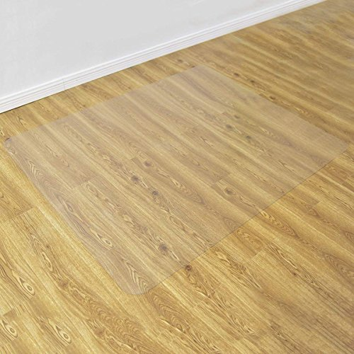 Goplus 47'' x 59'' PVC Chair Mat for Hard Floors Clear Multi-Purpose Floor Protector by Goplus