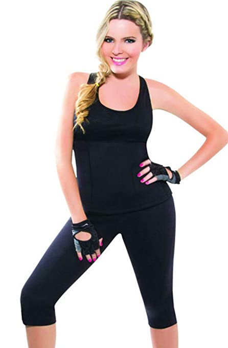 d276382ddd Image Unavailable. Image not available for. Color  Ausom Womens Hot Shapers  Thermo Neoprene Slimming Sweat Sauna Vest Shirt Tank Top Body Shaper Best