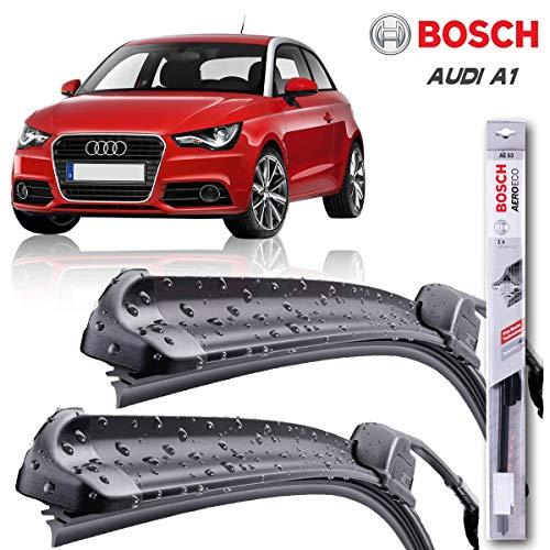 Juego de limpiaparabrisas Bosch para AUDl A1 SPORTBACK 09.11. | Hasta un 40% de vida más larga | Un par de limpiaparabrisas de parabrisas delantero ...