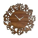 """Panda Superstore Decoración de la Sala de Estar Animales Lindos Modernos Relojes de Pared de Madera Relojes de Pared de Madera 12"""""""
