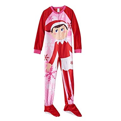 df38cd1a5 Amazon.com  The Elf on the Shelf Footed Pajamas - Girls 4-10 (4 ...