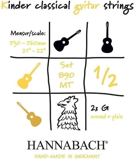 Hannabach 653079.0 - Cuerdas para guitarra clásica: Amazon.es ...