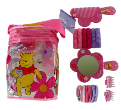 Disney Winnie the Pooh Beauty Hair Brush Pack - Hair Comb, Mirror, and More - - Mirror Pooh