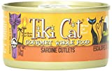 Tiki Cat Gourmet Whole Food 12-Pack Tahitian Grill Sardine Cutlets Pet Food