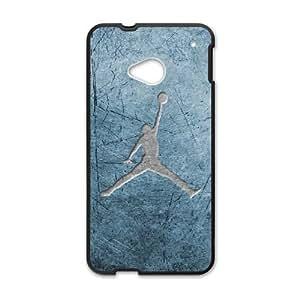 HTC One M7 Cell Phone Case Black Jordan logo WLY Phone Case Sports Custom
