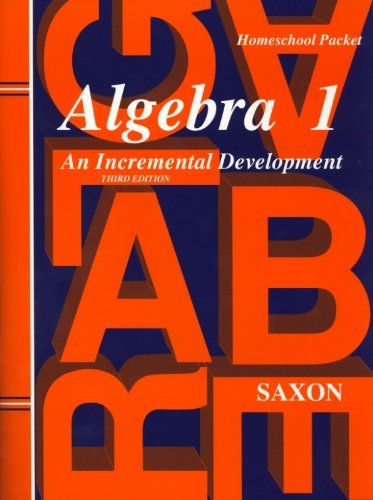 Saxon Algebra 1 Answer Key & Tests Third Edition by Saxon (1998-04-30)