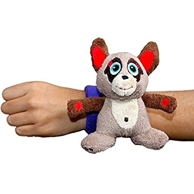 Critter Cuffs On-The-Go Stuffed Meerkat with Reversible Wristband | Super Soft Plush Stuffed Animal | Perfect Travel Toy for Toddlers | No Beads or Buttons | Machine Washable: Toys & Games