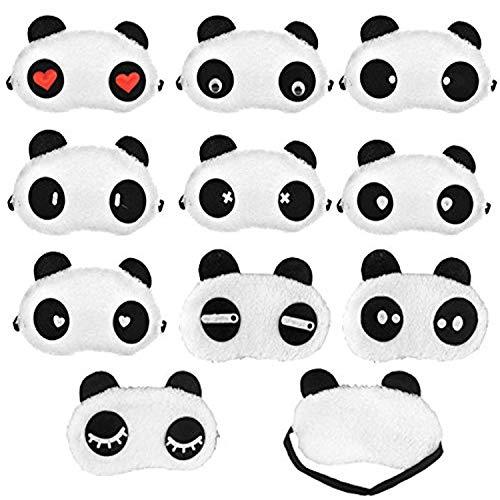 Party Favors For Teenage Girl (Panda Sleep Masks, Eye Mask Eyeshade Eyepatch Soft Sleep Masks Lovely Panda Travel Sleeping Blindfold Nap Cover, 10 Different)