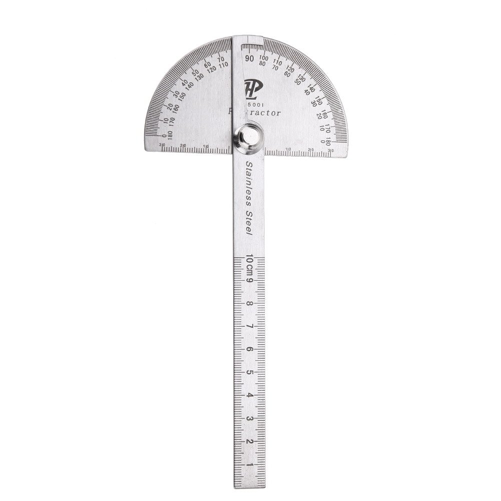 Stainless Steel 0-180 degree Protractor Angle Finder Rotary Measuring Ruler Tool vanpower
