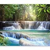 artgeist Photo Wallpaper Waterfall 135'x101' XXL Peel and Stick Self-Adhesive Foil Wall Mural Removable Sticker Premium Print Picture Image Design Home Decor c-A-0006-a-b