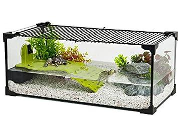 ZOLUX Acuario tortue-aquaterrarium para Tortuga de Agua de 50 cm: Amazon.es: Productos para mascotas