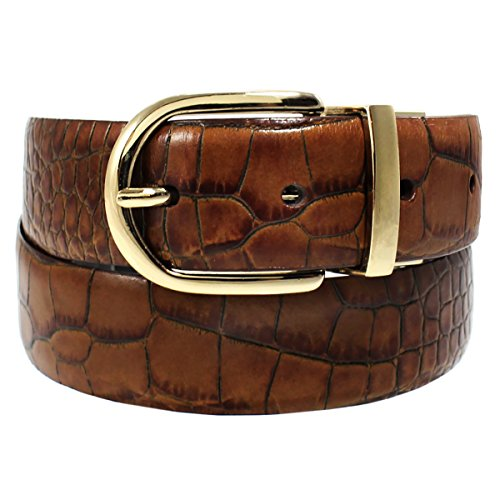 Ralph Lauren Croc (Lauren Ralph Lauren Women's Croc-Embossed Reversible Leather Belt, Brown/Black)