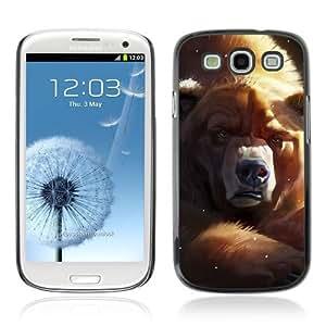 Designer Depo Hard Protection Case for Samsung Galaxy S3 / Grumpy Bear