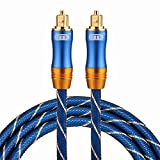 Optical Cables, EMK LSYJ-A 1.5m OD6.0mm Gold Plated Metal Head Toslink Male to Male Digital Optical Audio Cable