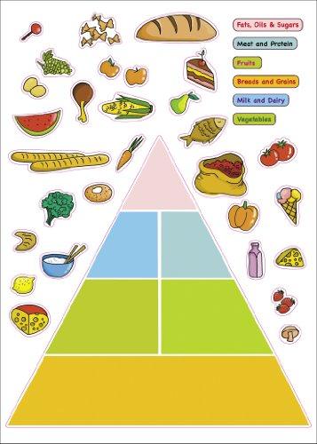Kids Learning Food Pyramid Artwork Room Decor Wall Sticker Decal15