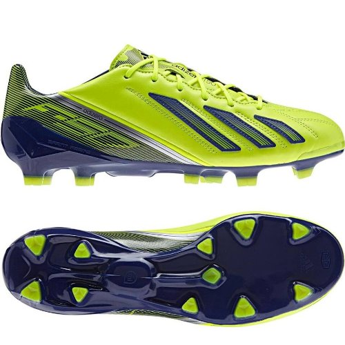 sale retailer 61195 c132e Adidas F50 Adizero TRX FG Messi Leather Electricity Silver Q33847 Men s  Soccer Cleats Boots (