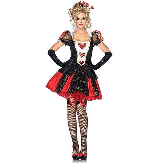 HS-ZM-06 Disfraz De Halloween Corazón Rojo Falda Femenina Falda ...