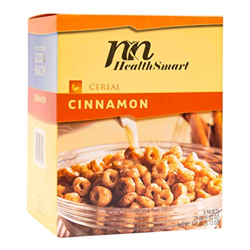 HealthSmart - High Protein Diet Cereal - Cinnamon - 15g Protein - Low Calorie - Low Carb - Low Fat - Gluten Free (5/Box)