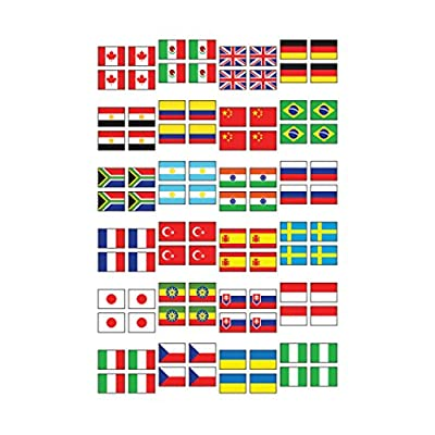 Trend Enterprises Inc. Flags of The World superShapes Stickers, 800 ct: Toys & Games