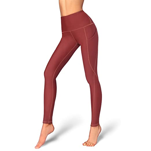 1da779a058e5e Occffy High Waist Out Pocket Yoga Pants for Women Tummy Control Workout  Clothes Ladies Leggings (