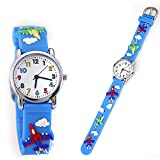 TIDOO Plastic Band Children Watch with 3D Cartoon Plane