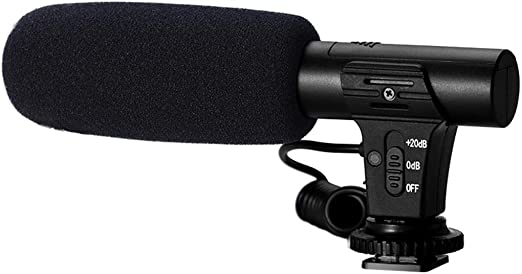 FiedFikt MIC-05 - Micrófono de 3,5 mm para cámara réflex Digital y ...