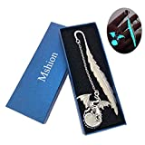 retro glow in the dark reading metal bookmarks long chain luminous book mark holiday gifts
