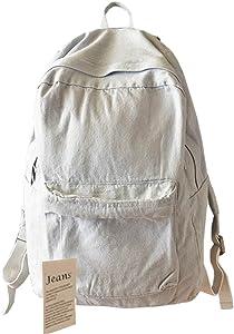College School Bags Backpacks Girls Denim Cute Bookbags Student Backpack School Laptop Backpack Bag Pack Super Cute for School for Teenage (Gray)