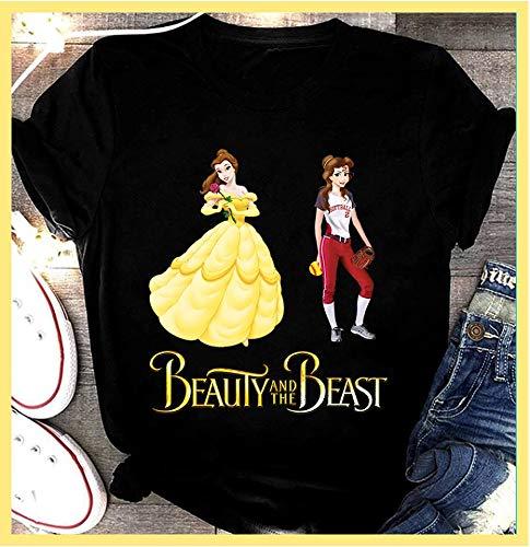 Amazon Com Softball 27 11 Beauty And The Beast T Shirt Sweatshirt